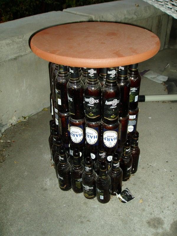 Turn Beer Bottles Into Furniture