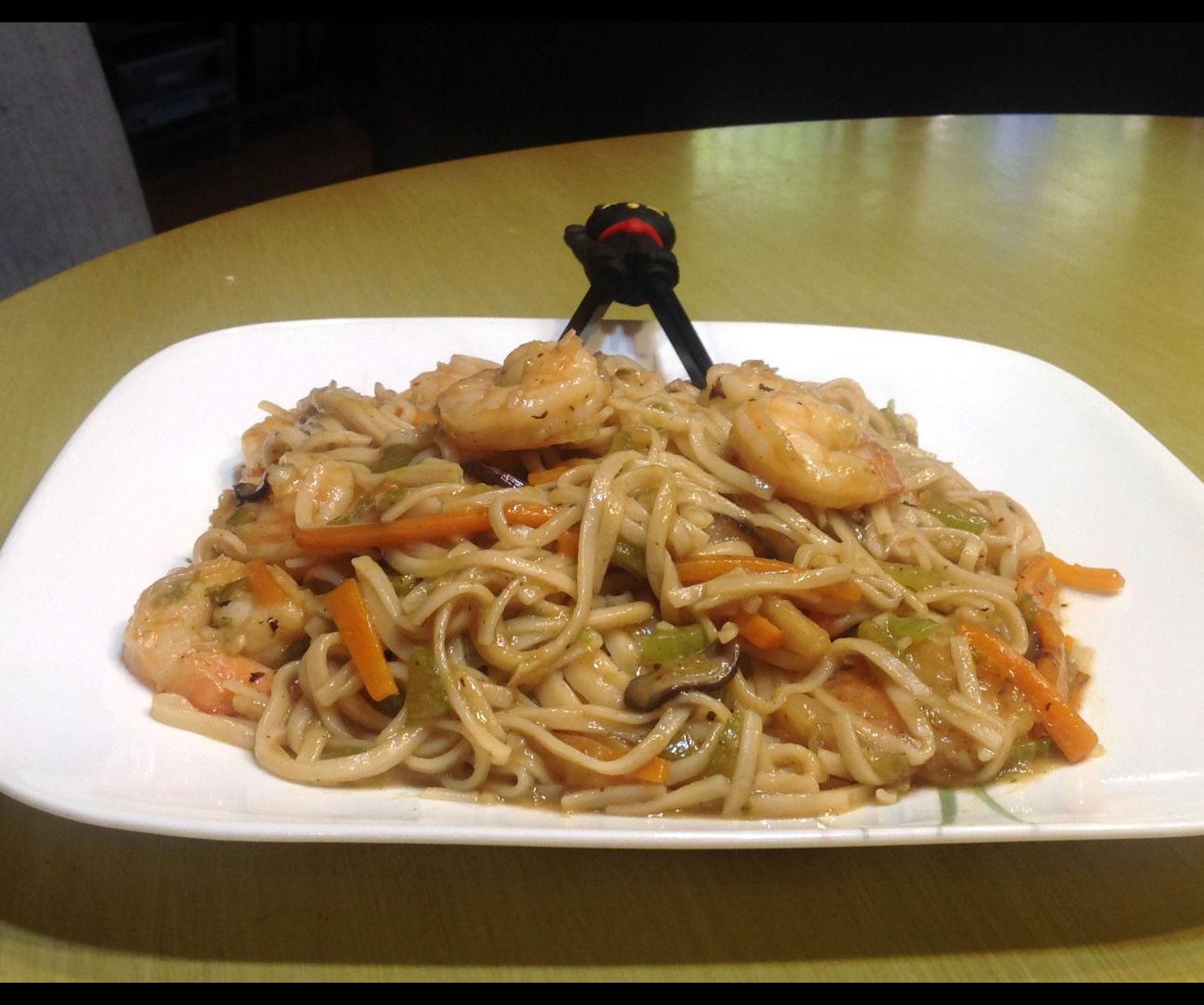 Shrimp Lo Mein - Without a Wok
