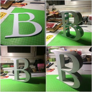 3D Typography (Paper Channel Letters)