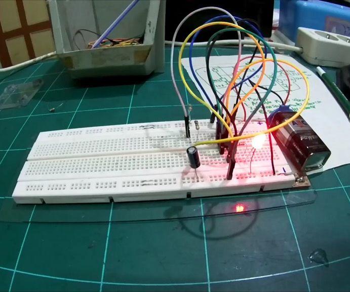 Ne555 led flasher