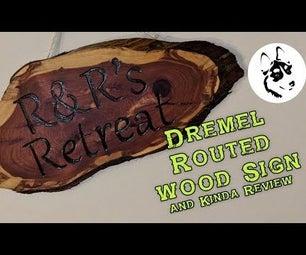 DIY Dremel Carved  Wood Cedar Sign