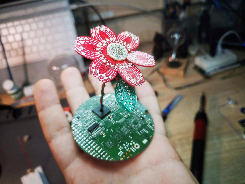 PCB LED Flower