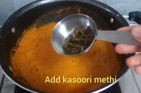 Add Dried Fenugreek Leaves