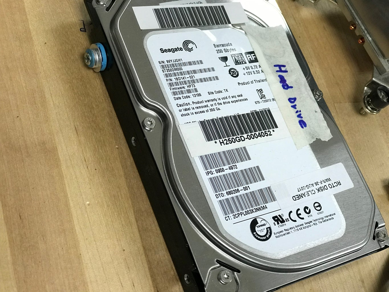 Install the Hard Drive