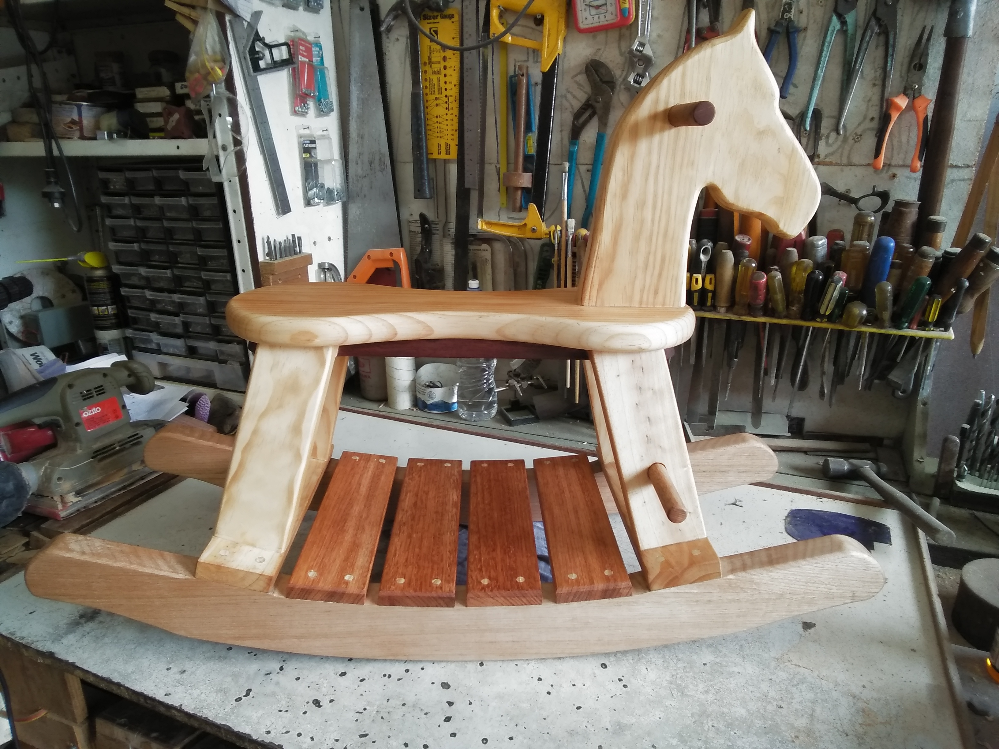 Rustic Rocking Horse From Store Bought Timber