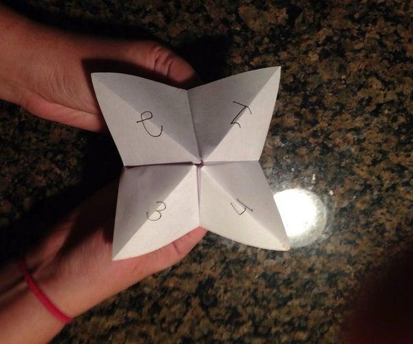 Fortune-Teller Origami