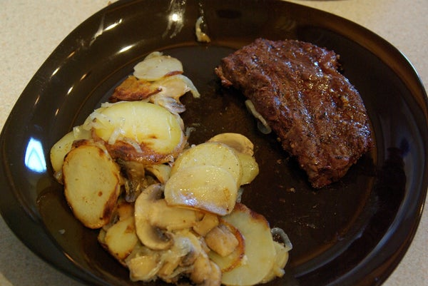 Awesome BBQ Potatoes and Mushrooms