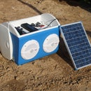 Solar Charged Stereo Cooler