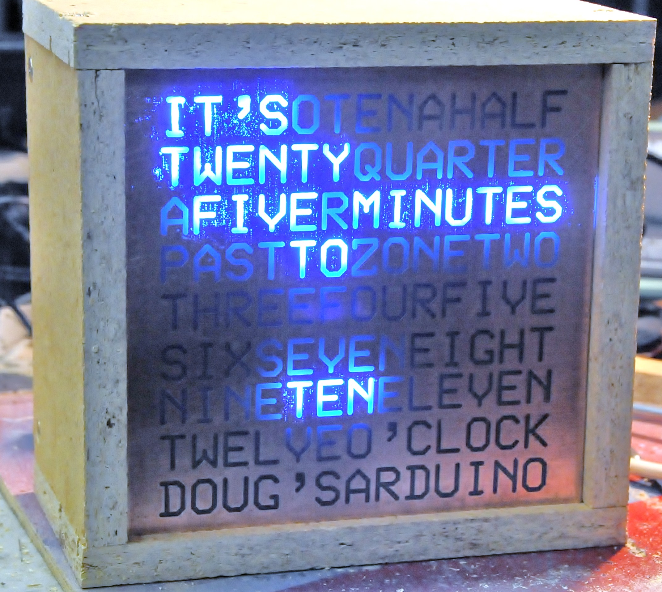The Word Clock - Arduino version