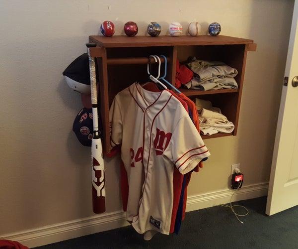 Baseball Equipment Rack