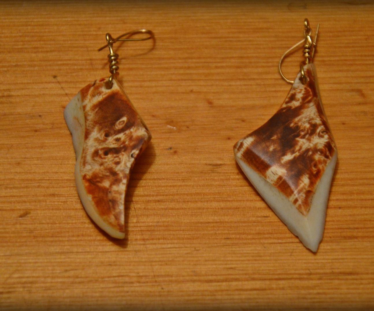 Easy wood and bone jewelry
