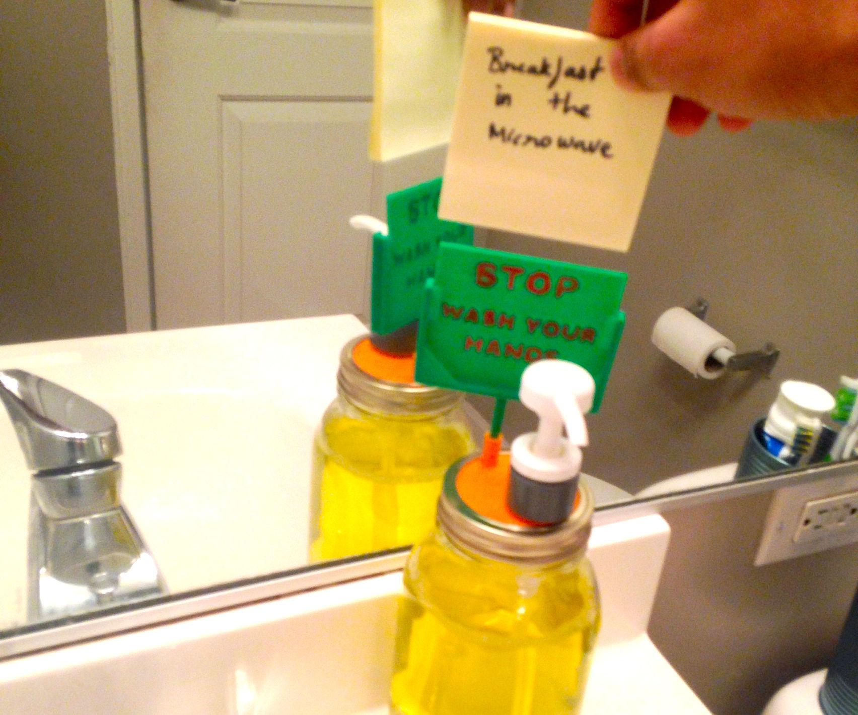Mason jar Soap Dispenser with a Message Board