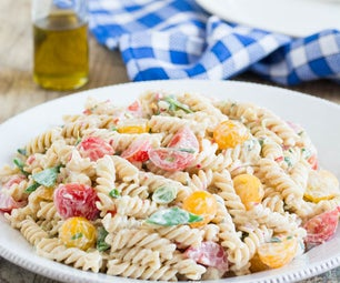 Creamy Whole-Wheat Fusilli Salad