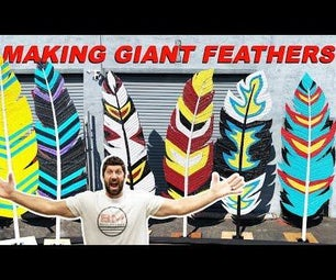 Giant Feathers Made With Recycled Tires