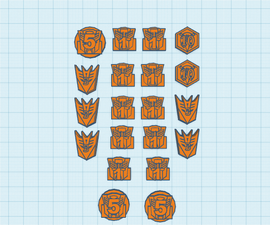 Transformers Damage Counters - 3D Printed