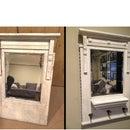 Vintage Vanity Mirror to Entryway Organizer