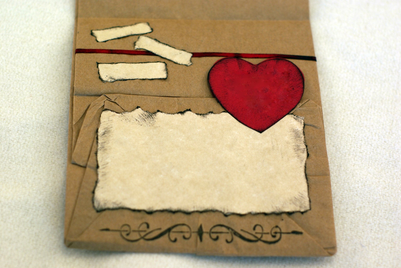 Decorate and Place Small Papers