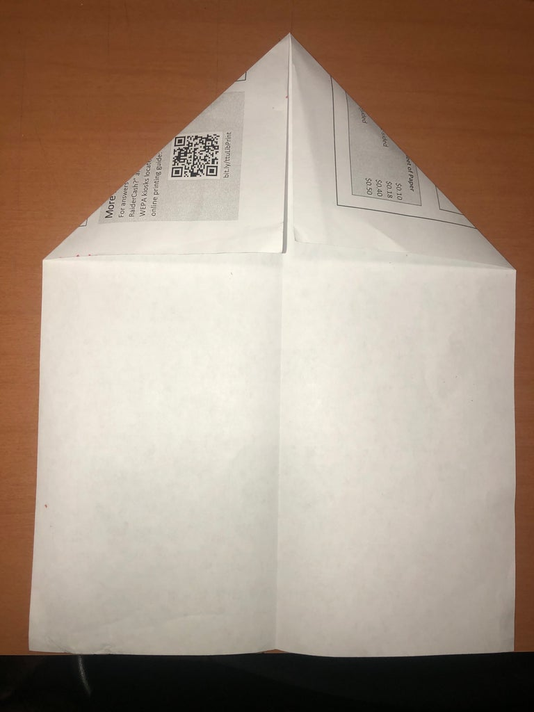 Unfold Paper Then Proceed to Fold the Top Corners