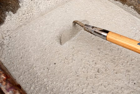 Mixing Concrete in a Wheelbarrow