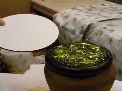 Making the Cauldron Cake