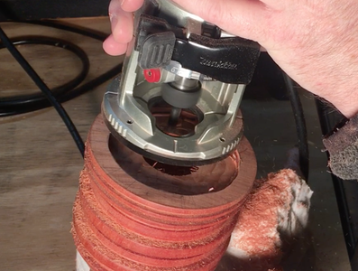 CUT, DRILL AND ROUTER THE SCROLL