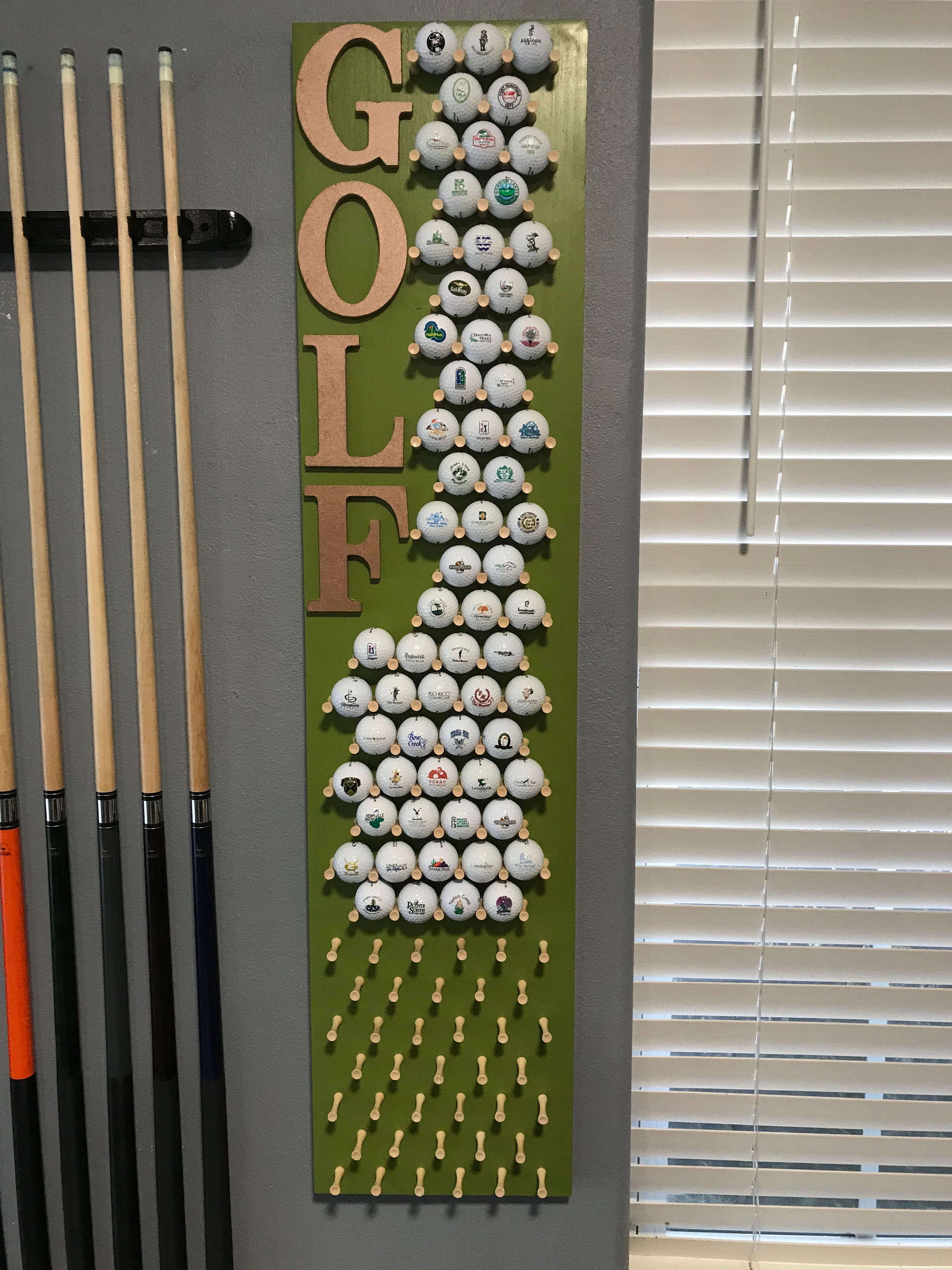 Customized Golf Ball Display