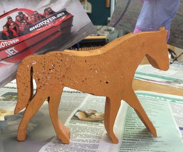 Wooden Horse Photo Holder