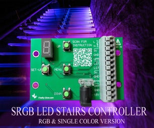 RGB STAIRS BACKLIGHT USING ADDRESSABLE DRIVERS.