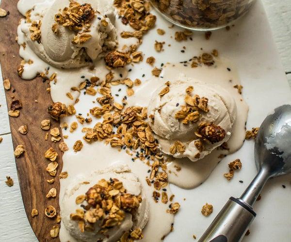 Brown Sugar Bourbon Coconut Ice Cream