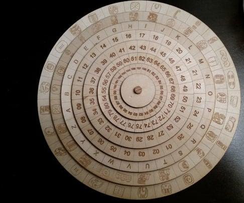 Mexican Mayan Cipher Wheel