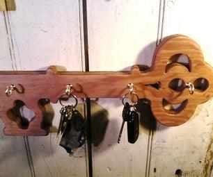 Key-Shaped Key Hanger