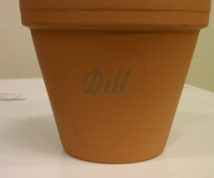 Laser Etching Terracotta Pots