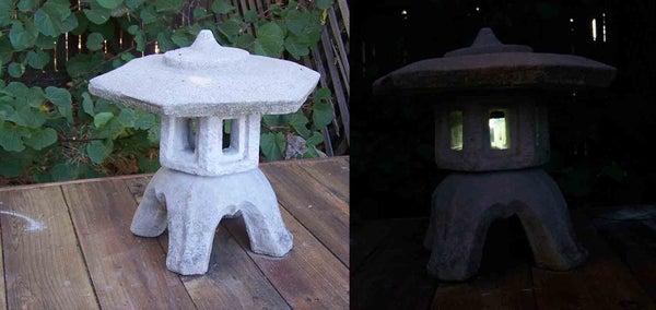 Toro Stone Lantern Solar Garden Lamp Conversion / Hack