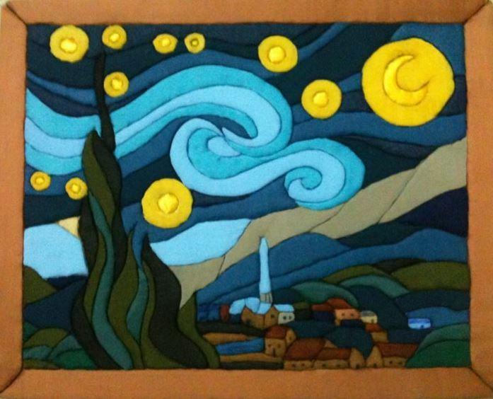 No Sew  No Glue -Wall Quilt Art