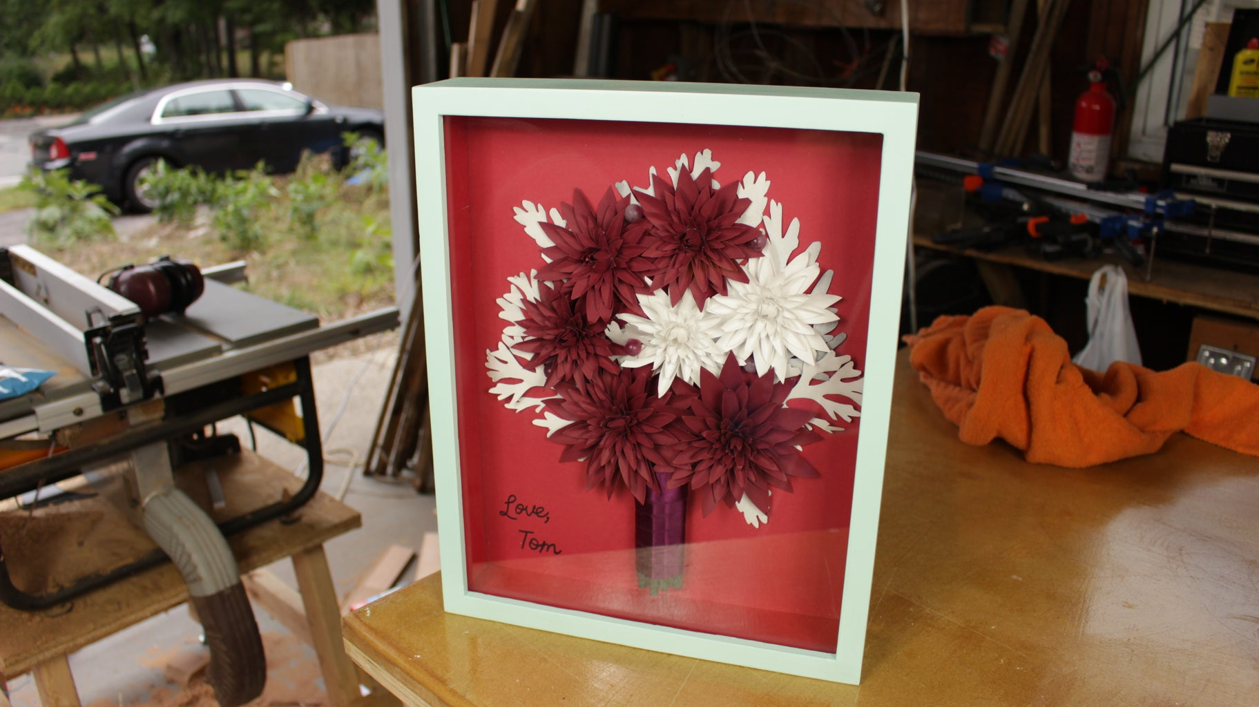Classic 1st Anniversary Gift, Paper Flowers