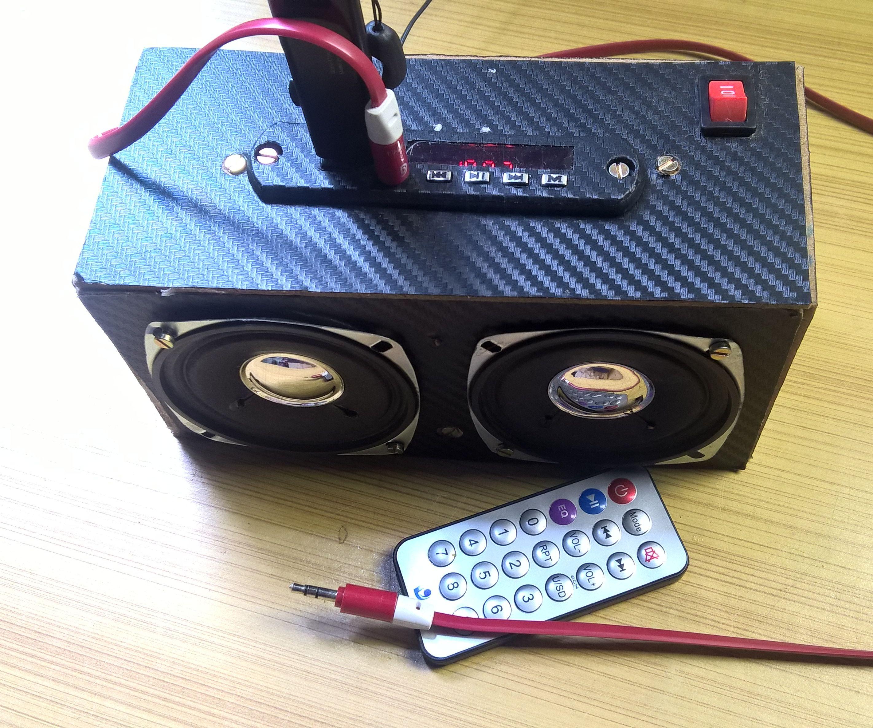 Make Your Own Cheap Portable MP3 Player (Bluetooth, USB, AUX, SD Card, FM)