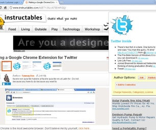 Making a Google Chrome Extension for Twitter