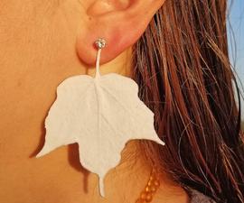 3D Print Maple Leaf Earrings!