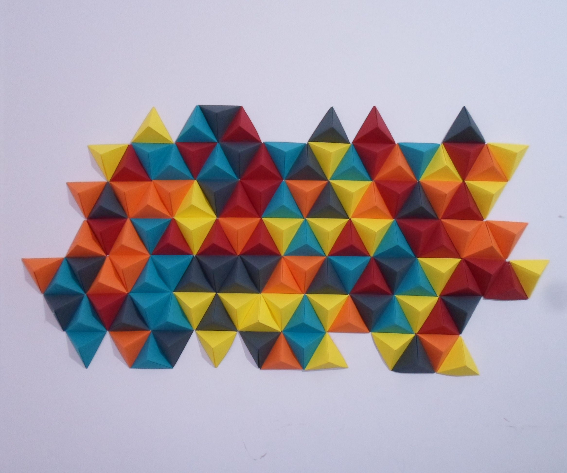 Abstract Origami Wall Decor 7 Steps With Pictures Instructables
