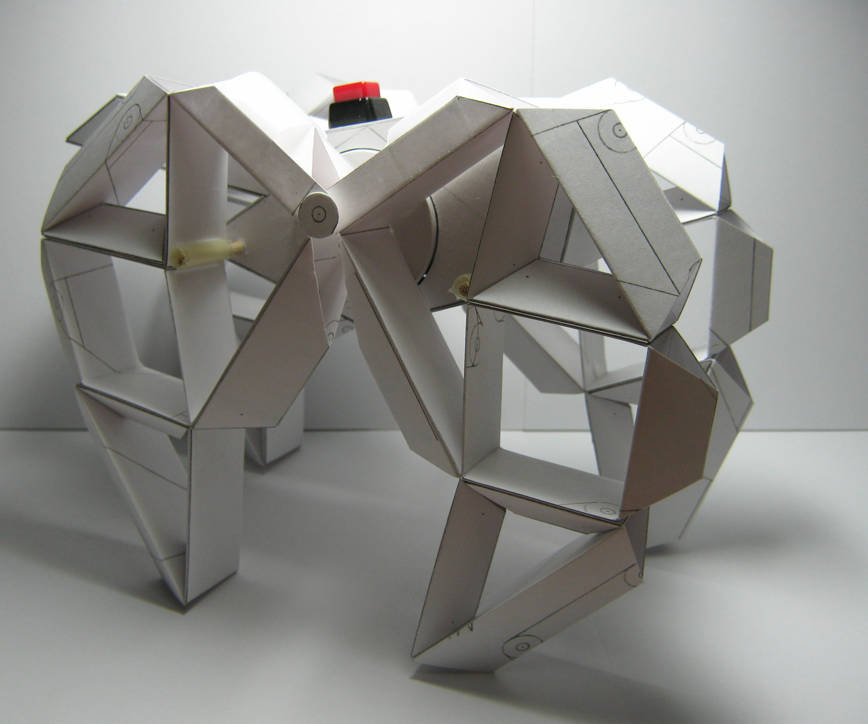 "Paper Motorized Walking Machine ""Sculpture"""