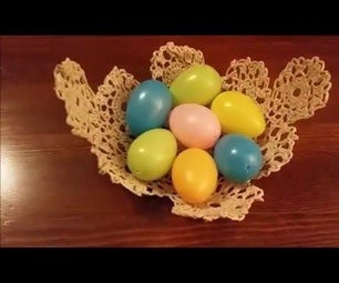 DIY LACE BOWL - Starched Doily