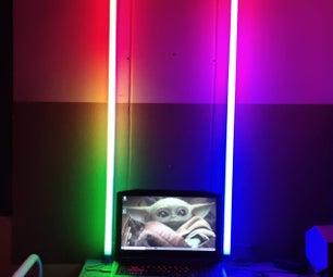 DIY RGB筒灯