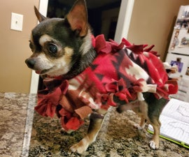 No Sew Fleece Dog Poncho