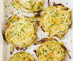 Oven Roasted Garlic Cabbage Recipe