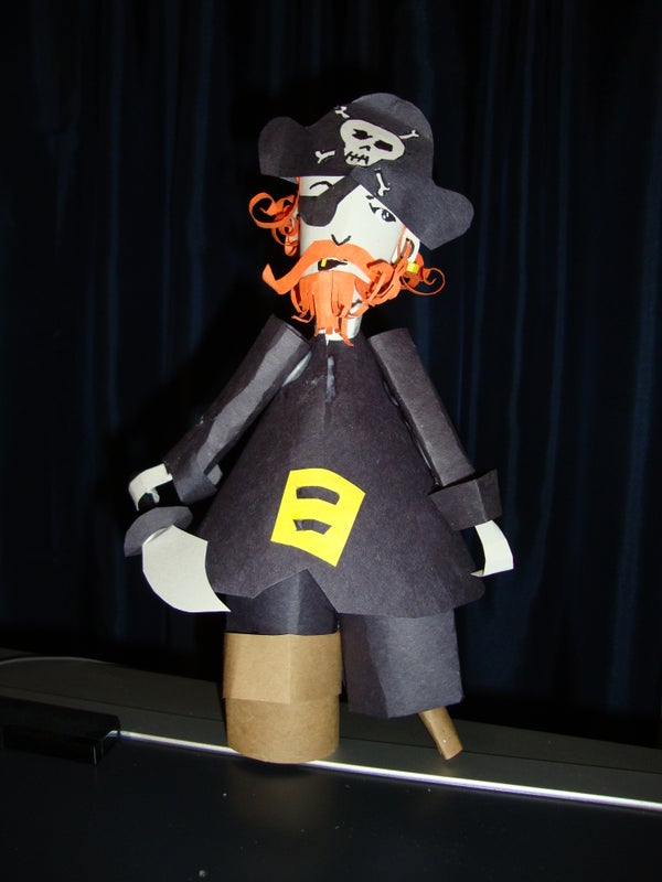 Pirate Paper Craft (EASY)