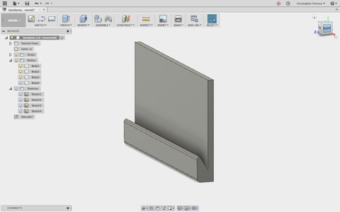 Sketch Side of Wall Mount