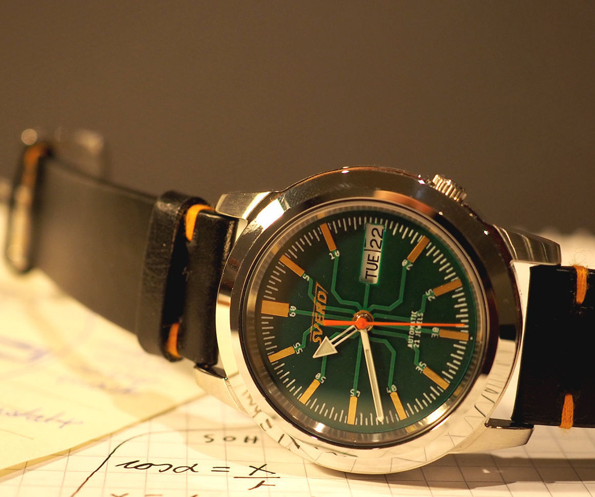PCB Dial Mechanical Watch