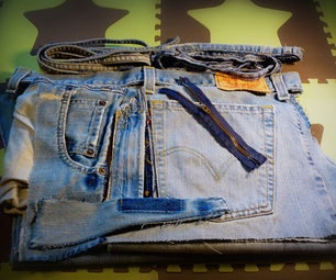 Deconstruct Jeans Into Utile Fabric & Bits