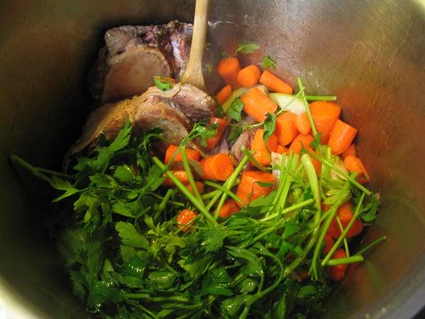 Pressure Cooker Beef Stock