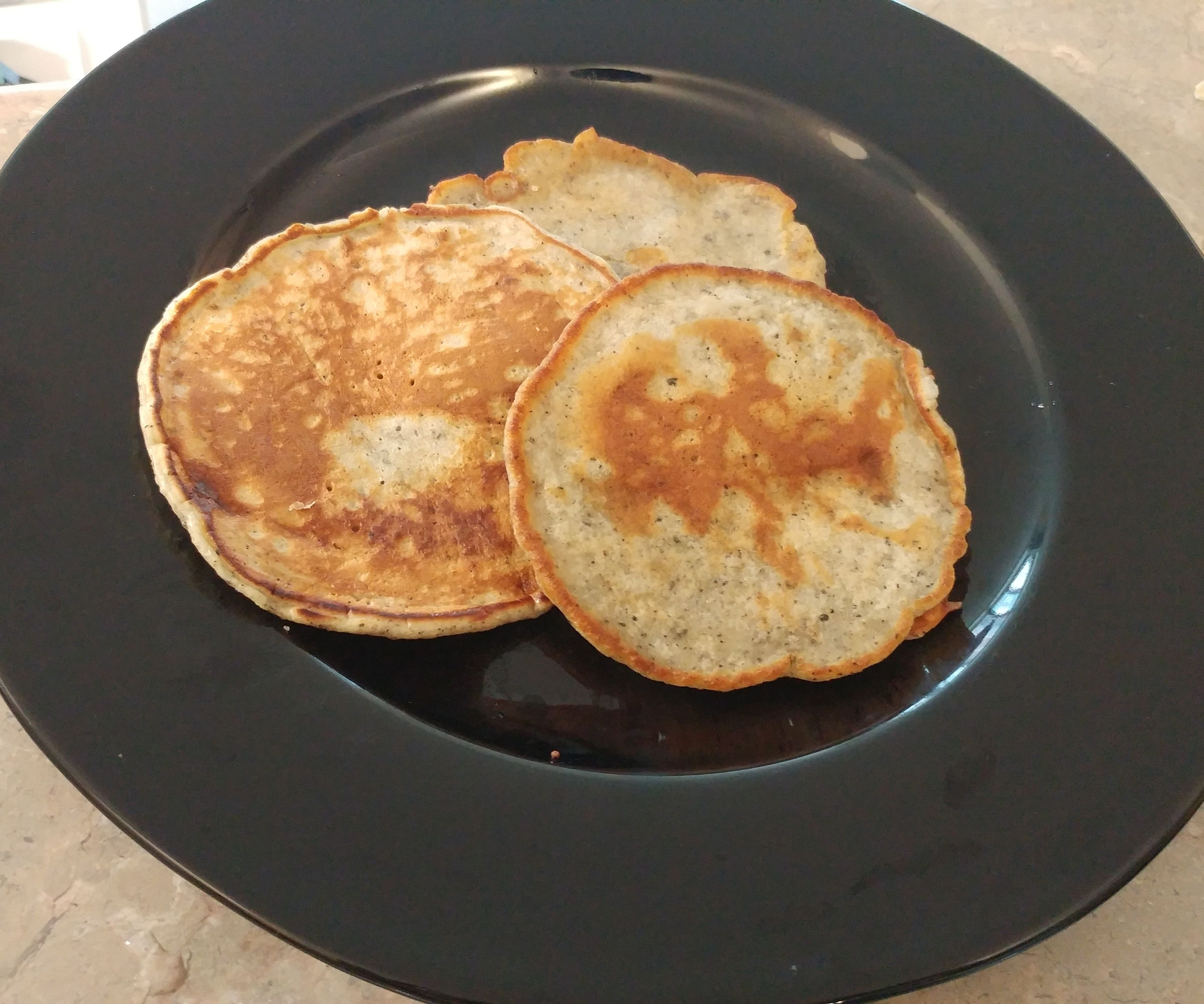 Black Sesame Pancakes